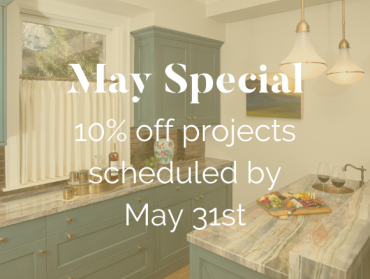 SPECIAL: 10% Off Projects Booked by May 31