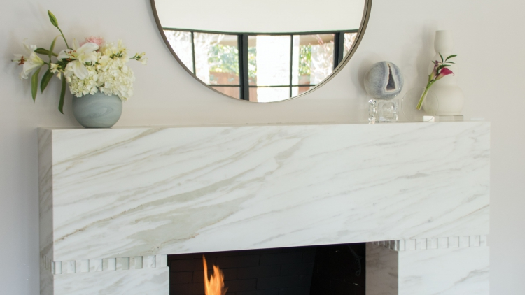 Marble Living Room Fireplace