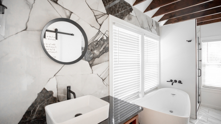 The Beauty of Porcelain and Natural Stone Together